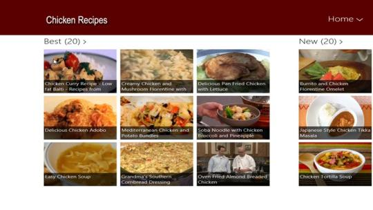 Chicken Recipes for Windows 8