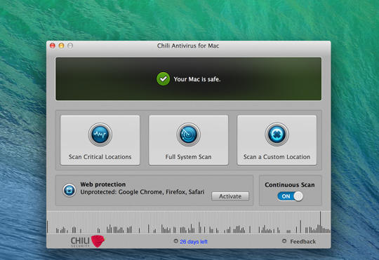 Chili Antivirus For Mac