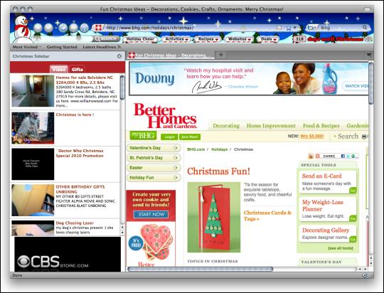 Christmas Firefox Interactive Theme