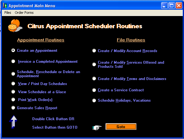 Citrus Appointment Scheduler