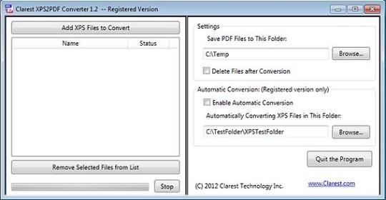 Clarest XPS2PDF Converter