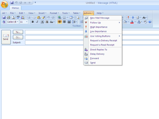 Classic Menu for Outlook 2007