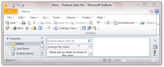 Classic Menu for Outlook 2010