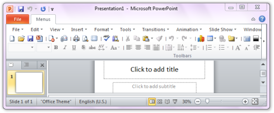 Classic Menu for PowerPoint 2010
