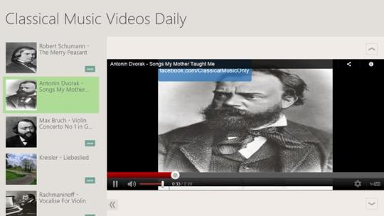 Classical Music Videos Daily for Windows 8