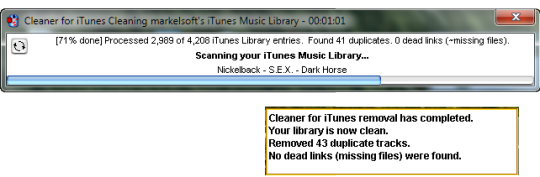 Cleaner for iTunes