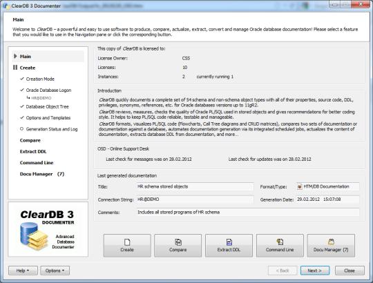 ClearDB Documenter
