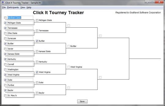 Click It Tourney Tracker