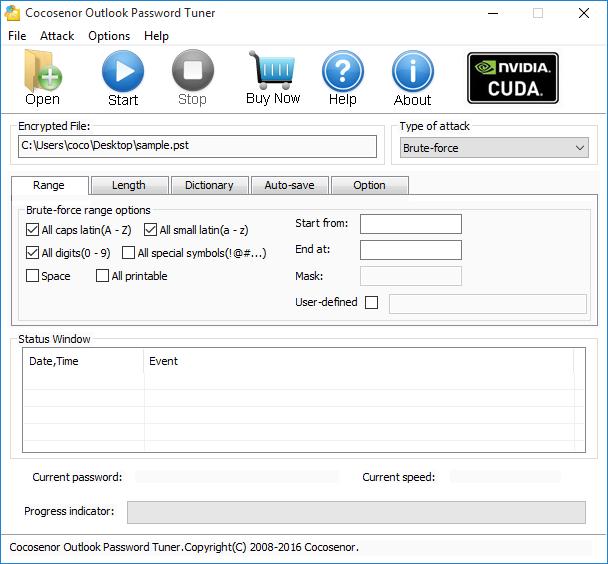 Cocosenor Outlook Password Tuner