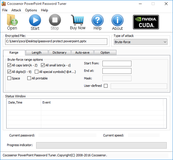 Cocosenor PowerPoint Password Tuner