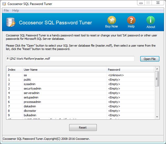 Cocosenor SQL Password Tuner