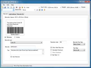 Codabar Barcode Generator 2