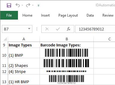 Code-128 Native Excel Barcode Generator
