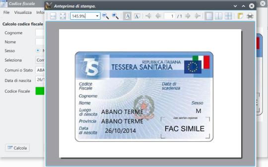 Codice Fiscale (Italian)