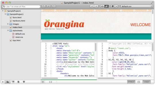 CoffeeCup Web Editor