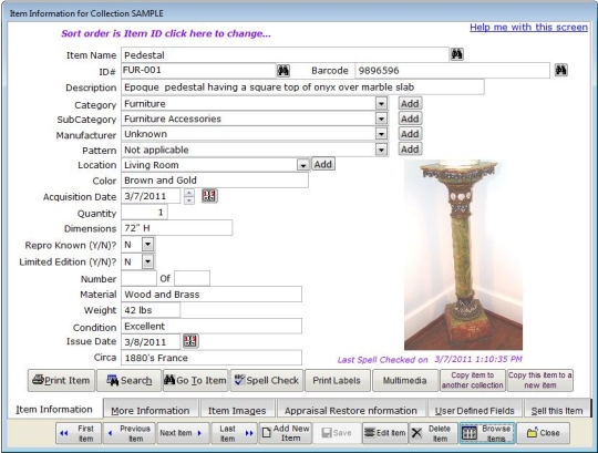 Collectorpro Software for Antiques