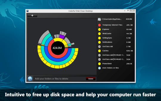 Colorful Disk Clean Desktop
