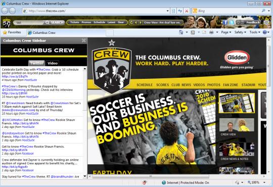 Columbus Crew Browser  IETheme