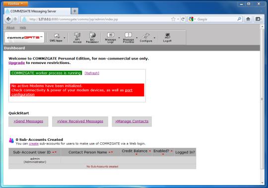 CommzGate Messaging Server