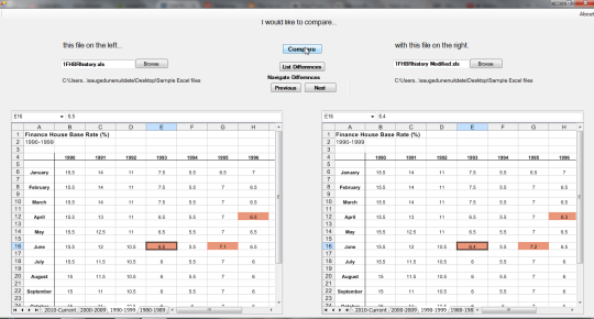 Compare Excel Files