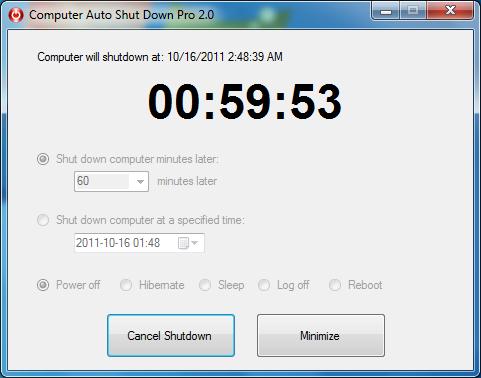 Computer Auto Shut Down