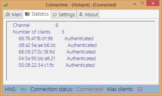 Connectme - (Hotspot)