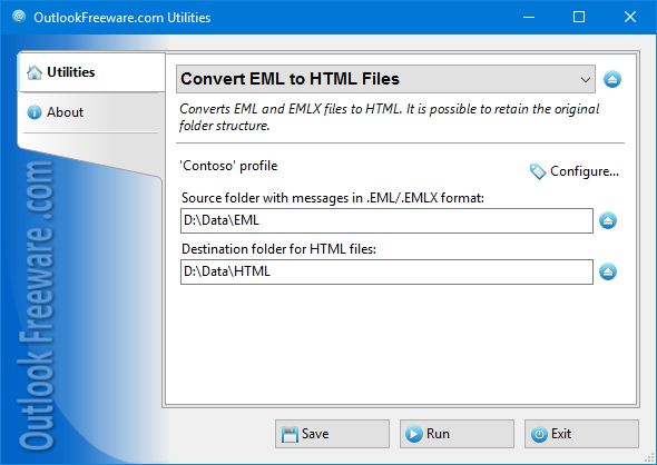 Convert EML to HTML Files