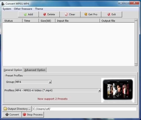 Convert MPEG MP4