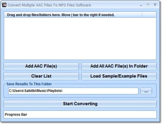 Convert Multiple AAC Files To MP3 Files Software
