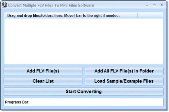Convert Multiple FLV Files To MP3 Files Software