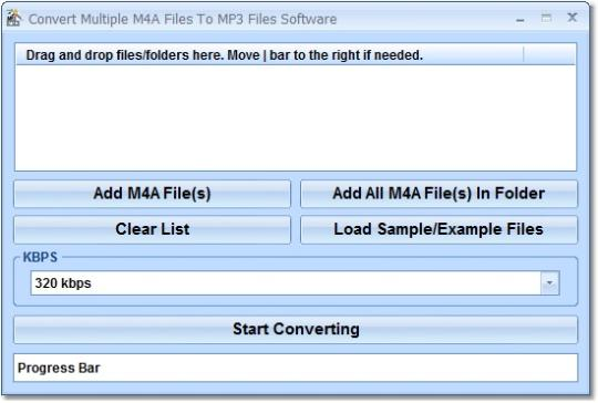 Convert Multiple M4A Files To MP3 Files Software