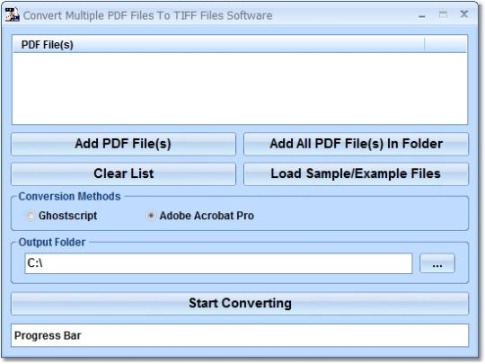 Convert Multiple PDF Files To TIFF Files Software