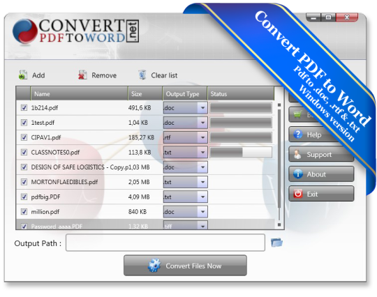 Convert PDF To Word Desktop Software