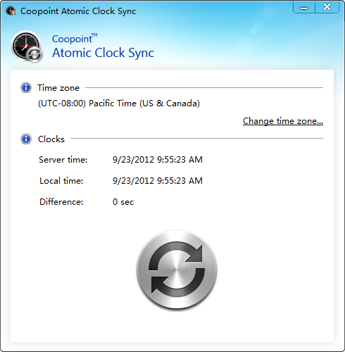 Coopoint Atomic Clock Sync