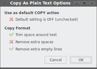 Copy As Plain Text