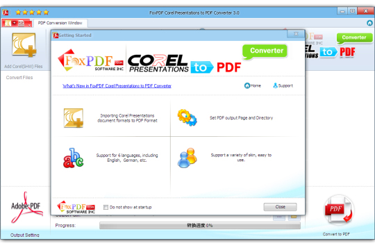 Corel Presentations to PDF Converter
