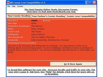 Cosmic Love Compatibility