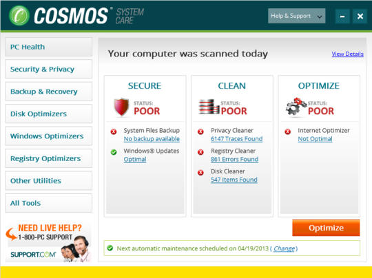 Cosmos System Care Professional