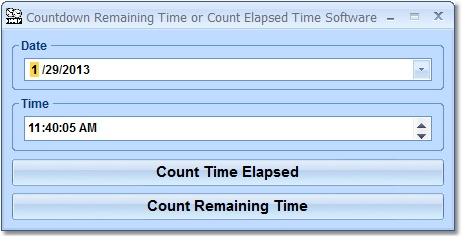 Countdown Remaining Time or Count Elapsed Time Software