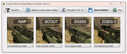 Counter-Strike1.6 Sniper-NoZoom-Crosshair-Tool