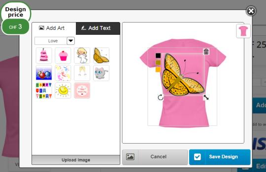 CraftShirt Online Product Designer