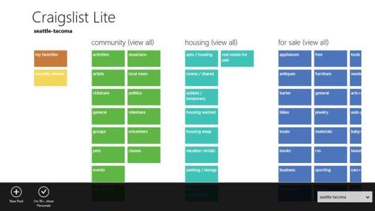 Craigslist Lite for Windows 8