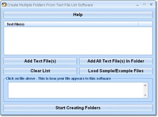 Create Multiple Folders From Text File List Software