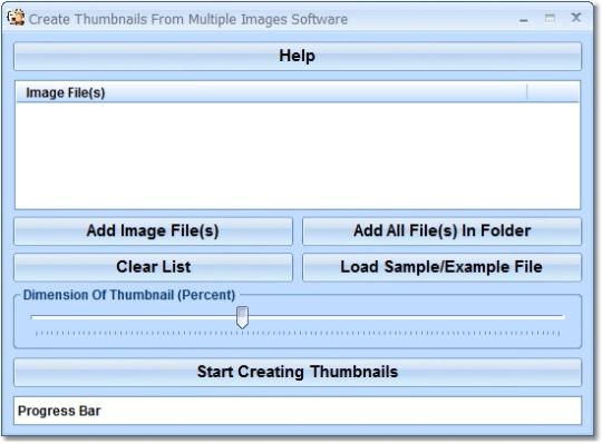 Create Thumbnails From Multiple Images Software
