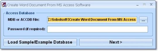 Create Word Documents From MS Access Software