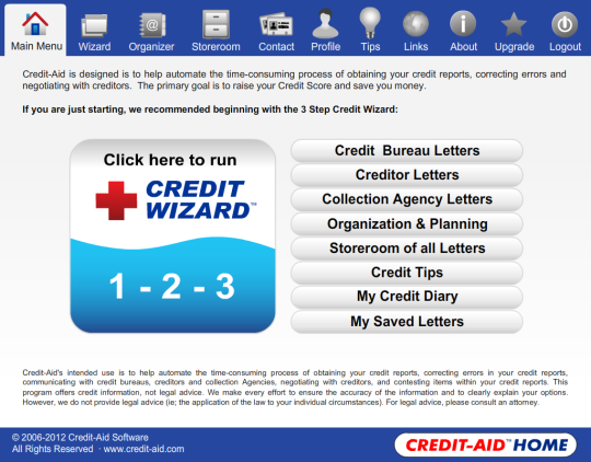 Credit-Aid Home Credit Repair Software