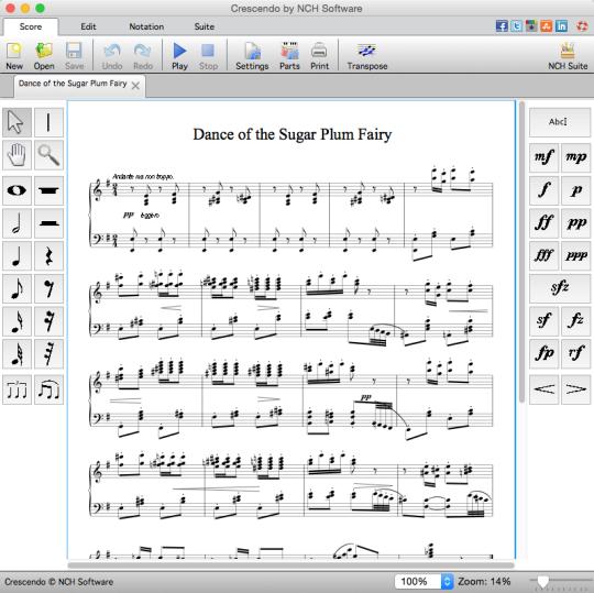 Crescendo Free Music Notation Editor for Mac