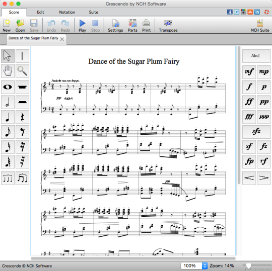 Crescendo Music Notation Free
