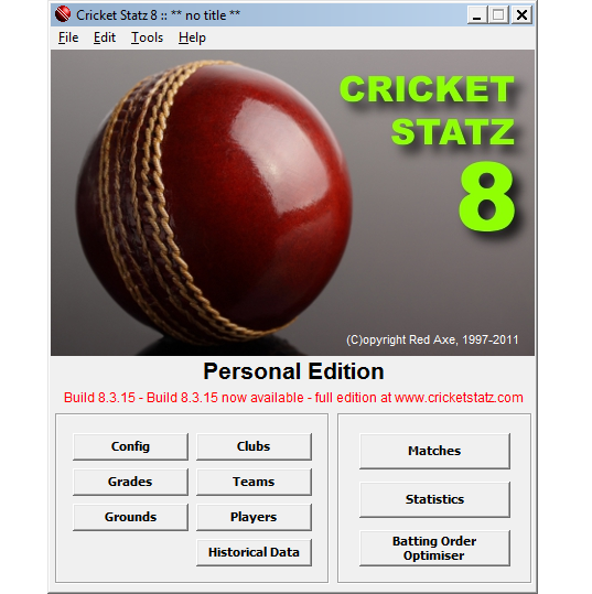 Cricket Statz Personal