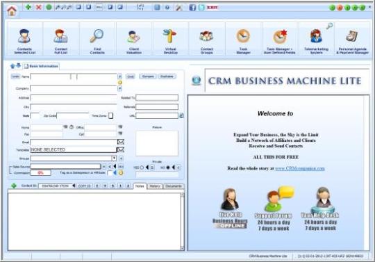 CRM Business Machine Lite